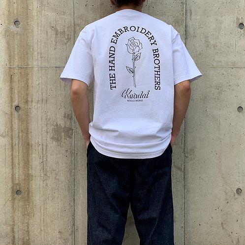 Kendai刺繍T「薔薇×Arch」