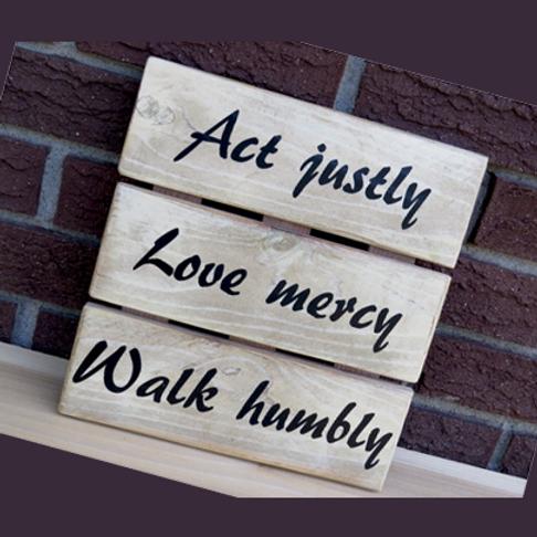 Wooden Wall Hanging - Micah 6:8