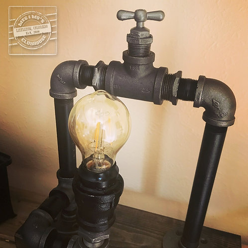 Water Valve Edison Lamp, Industrial Lighting, Steampunk Lamp