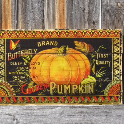 Golden Pumpkin Wall Decor for Fall or Halloween