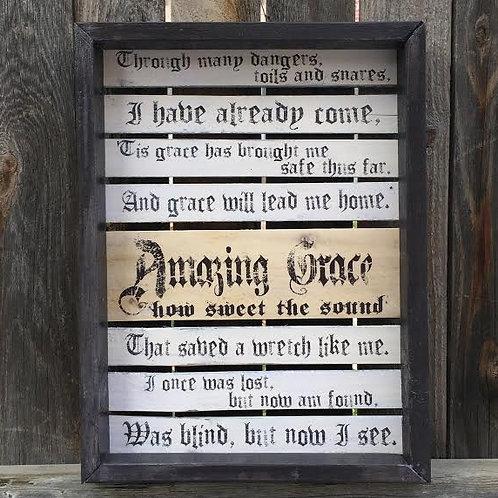Amazing Grace Pallet Style Sign