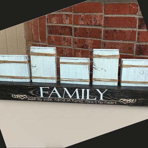 Rustic Farmhouse Mantle Photo Display