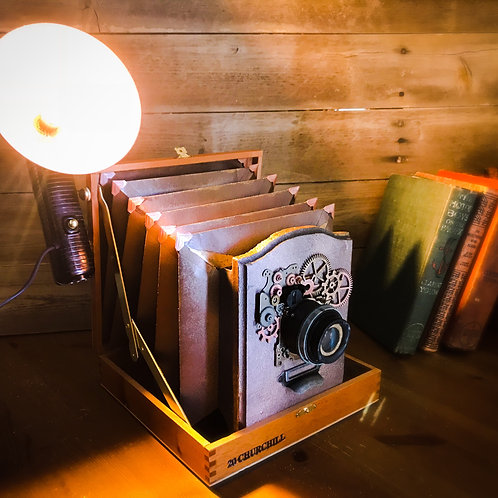 Vintage Steampunk Camera Lamp