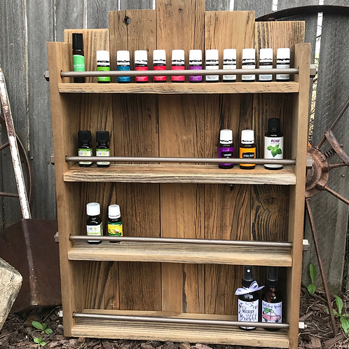 Rustic Hanging Essential Oil Shelf or Spice Rack