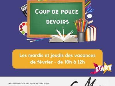COUP DE POUCE (devoirs)