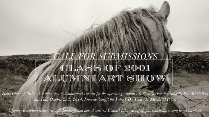 Upcoming 2014 Alumni Art Show Benefit - Call for Artists