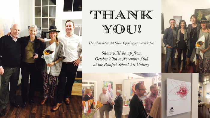 Thank you for joining us at the Alumni Art Show Opening!
