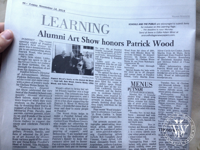 Alumni/ae Art Show - Honoring Patrick Wood (Press Release)
