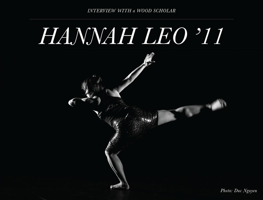 Hannah Leo '11 with Yale Dance Group
