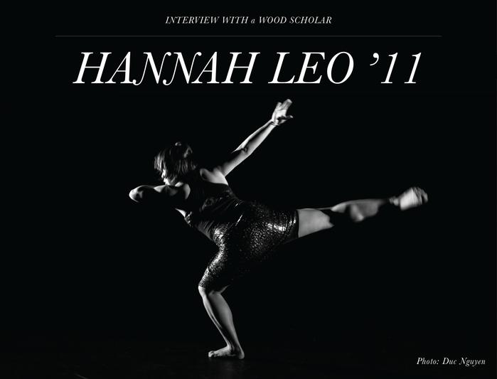 Wood Scholar Profile: Meet Hannah Leo '11