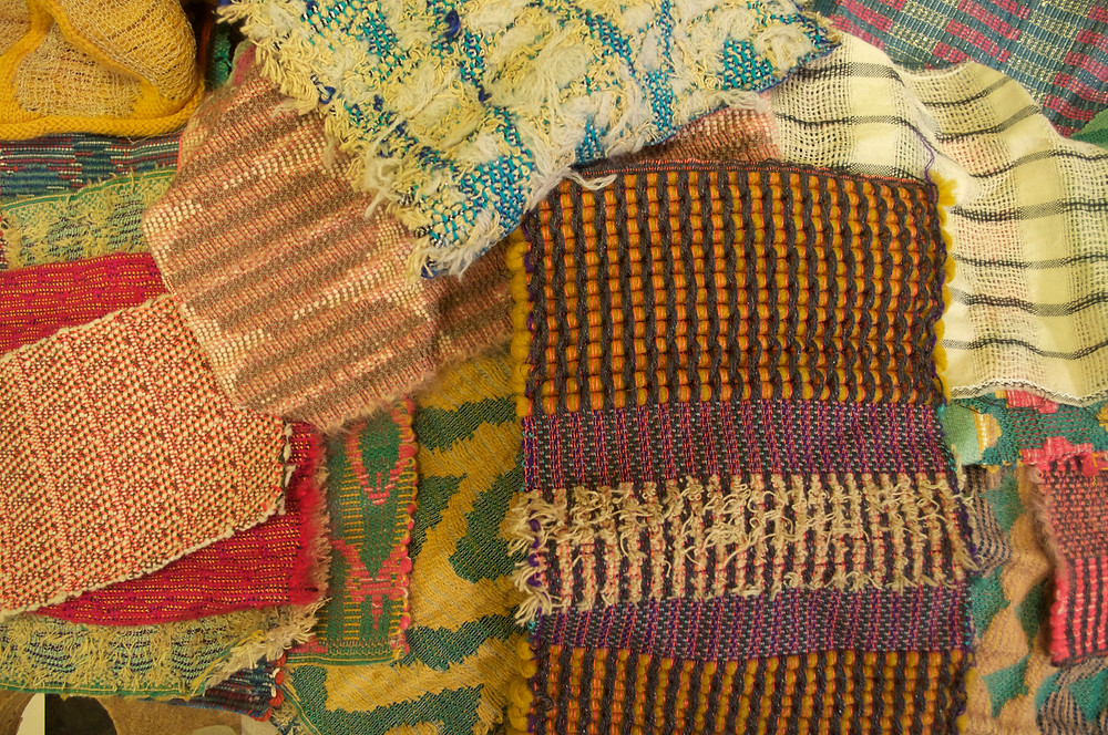 Fabrics designed and woven by Ritsuko.