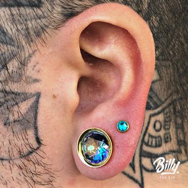 Dilatacion y upper lobe piercings