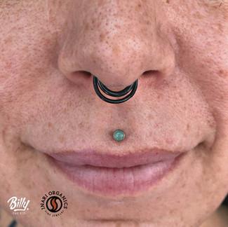 Philtrum piercing