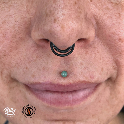 Philtrum piercing