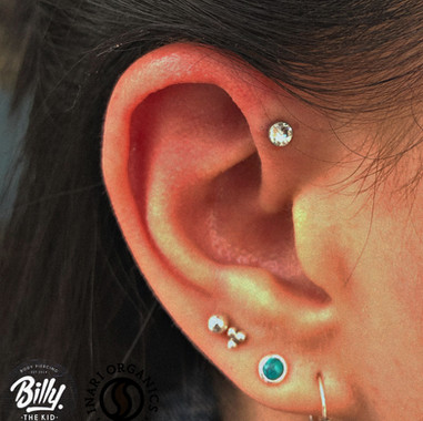 Upper helix piercing