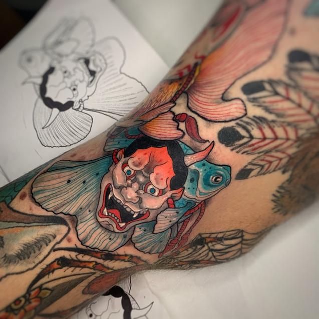 Tatuaje realizado por Cristopher Mend