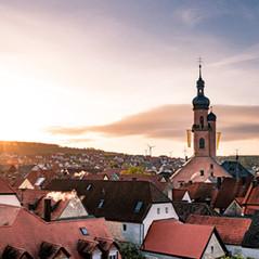 Sonnenaufgang über Eibelstadt