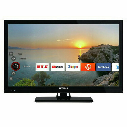 """Hitachi  21.5"""" Smart TV 12v"""