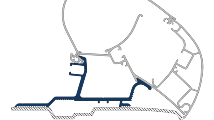 Dometic PR-ADAPTER CARAVAN, RENAULT MASTER 11- 3pcs