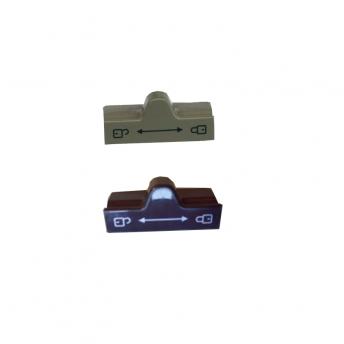 Fridge Door Lock Cpl, Black/Grey 295214007