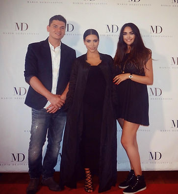 London based makep artist Selina Bassi pictured with global celebrity Kim Kardashian