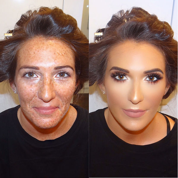 London based makeup artist Selina Bassi takes a before an after of her beautiful client.