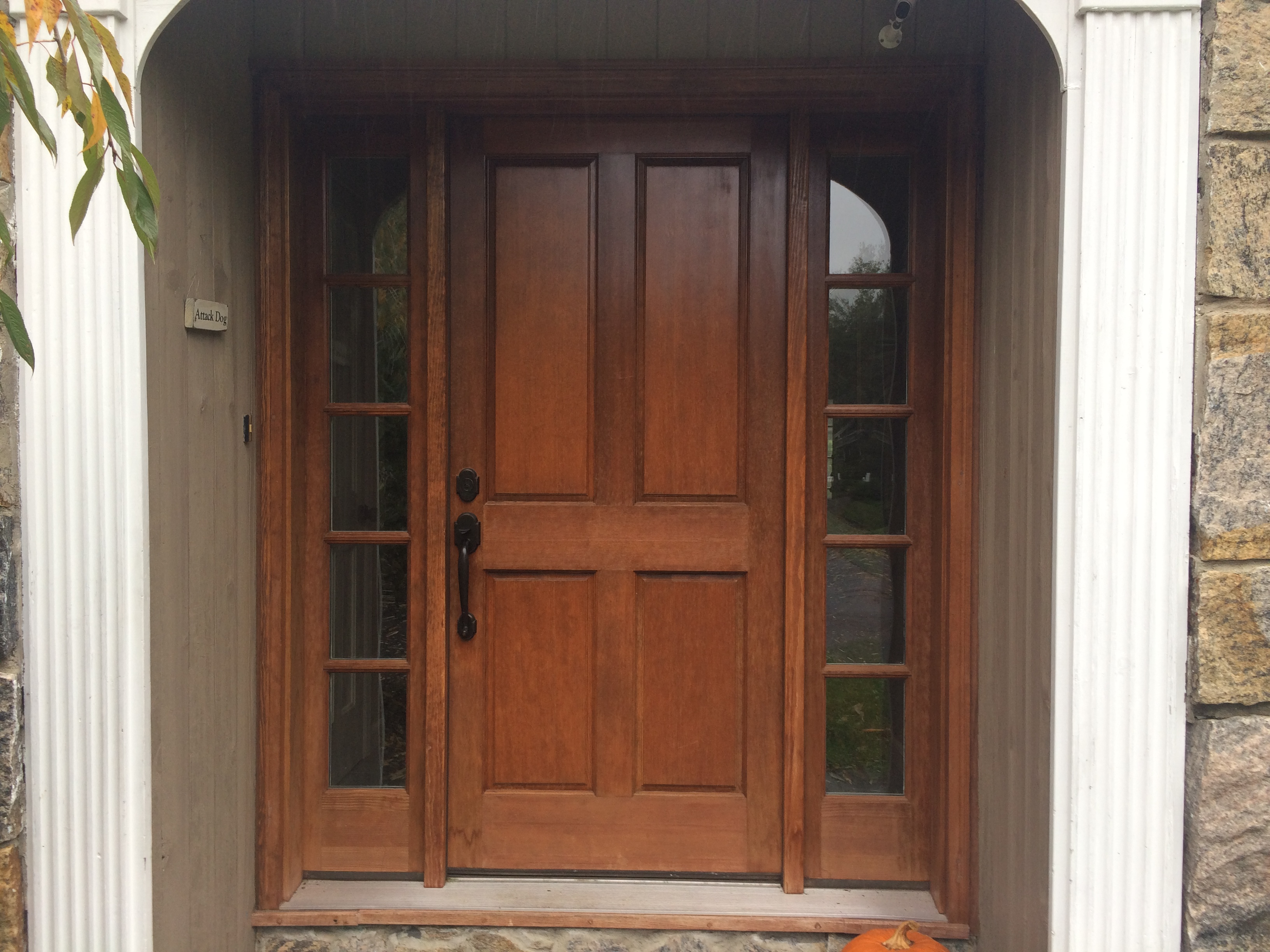 Wood Door Before & After