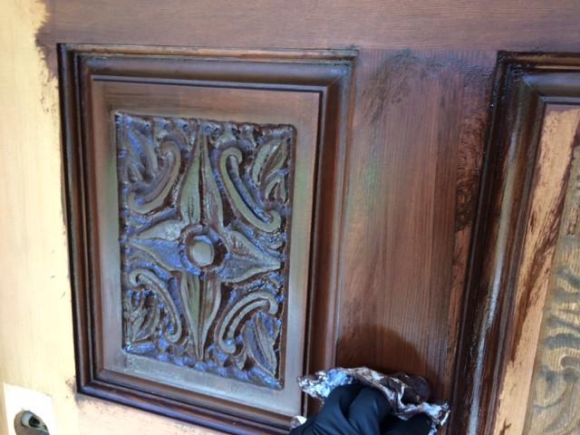 Staining door - in process