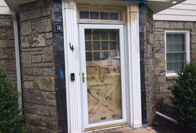 Stripped pine door