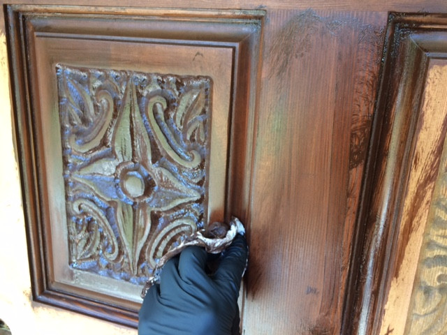 Staining door - in process