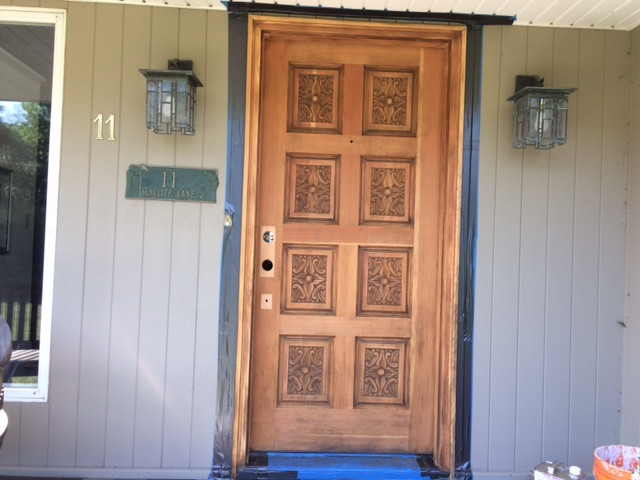 Stripped door - in process