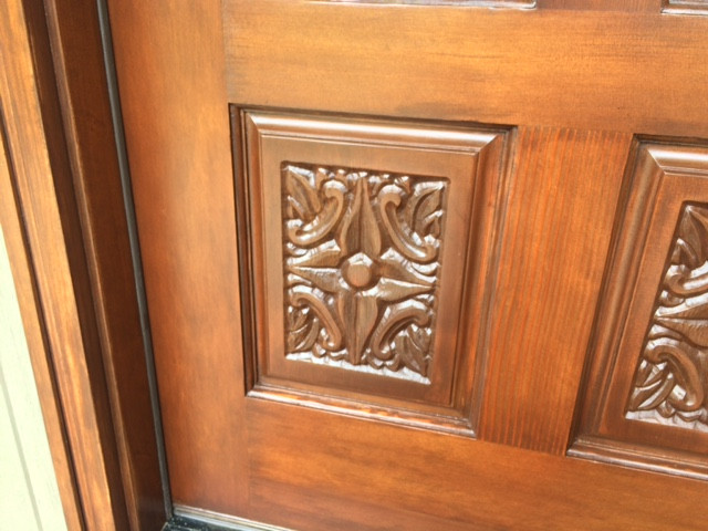 Refinished door