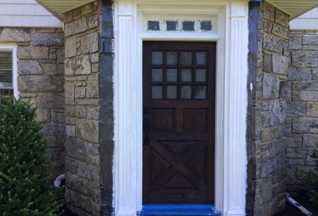 Stained pine door