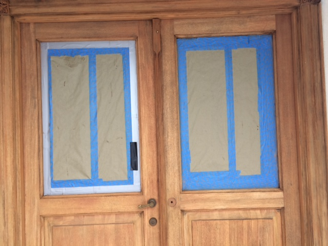 Stripped doors