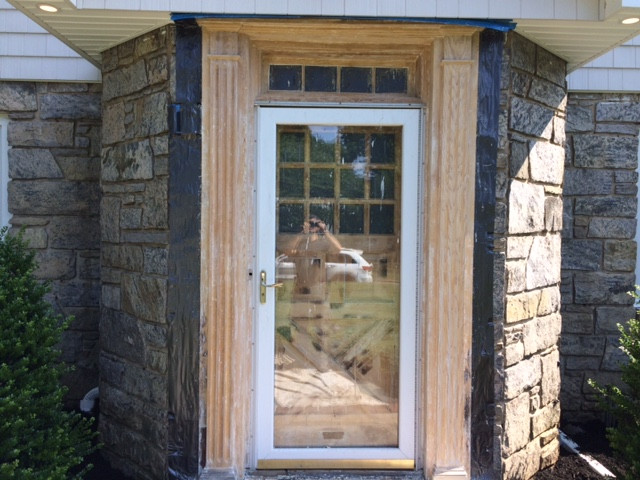 Stripped pine door