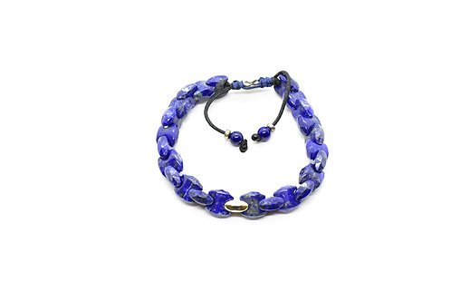 Adjustable Lapis Lazuli Beaded bracelet