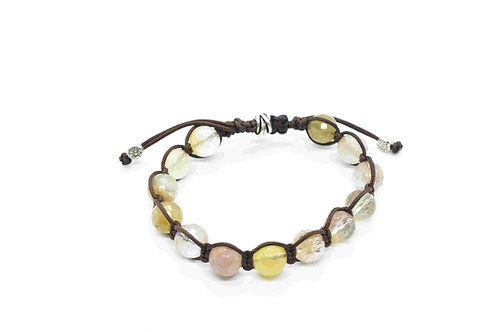 Routilated Quartz Bracelet