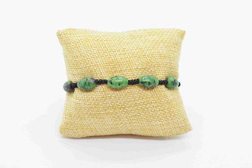 Rubyzosite Natural Gemstone Hand Knotted Bracelet