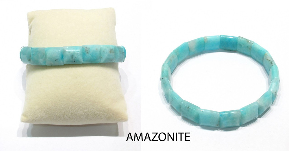 Amazonite Faceted stretch Bracelet