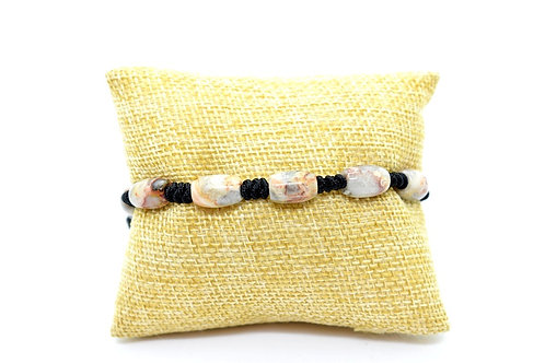Fancy Jasper Natural Gemstone Hand Knotted Unisex Bracelet