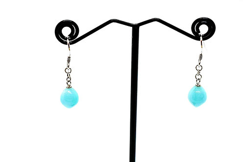 Amazonite Natural Gemstone Earrings with 925 Sterling Silver