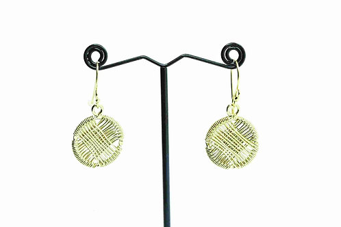 Women's Gold Plated, Handmade Wired Wrapped Earrings
