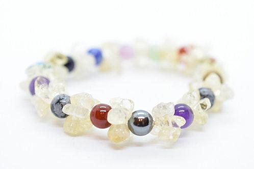 Multi-Color Natural Gemstone Women's Bracelet