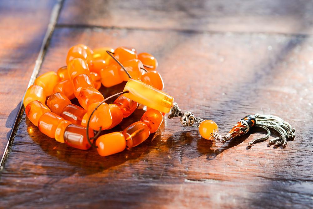 Baltic Amber Greek Traditional style Worry Bead set (komboloi)