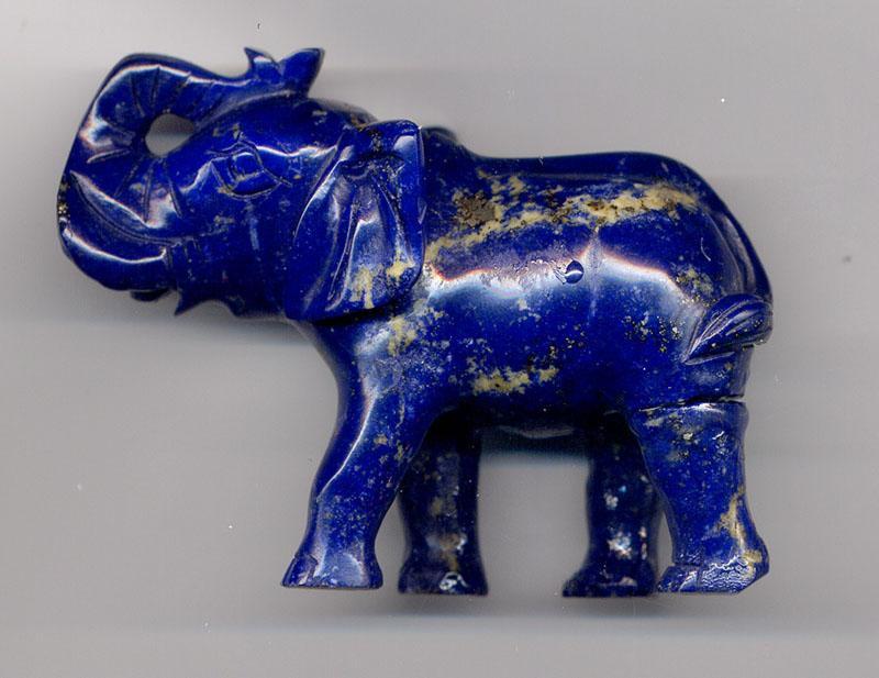 Lapis Lazuli elephant sculpture