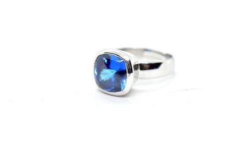 simulated Diamond w/925 Silver - Women's Ring