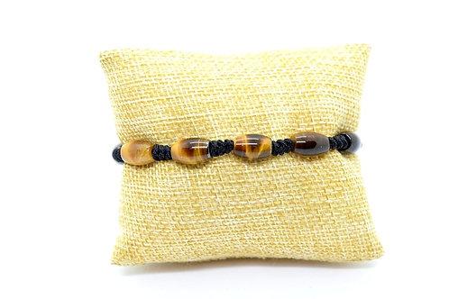 Tiger's Eye Natural Gemstone Hand-made Bracelet