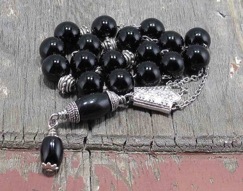 Black Onyx Worry Bead set