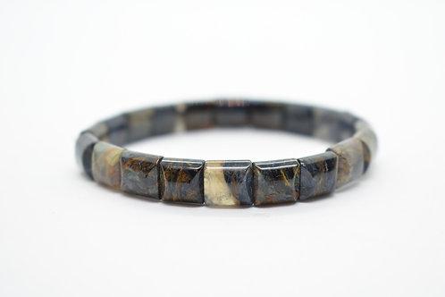 Blue Pietersite Natural Gemstone Women's stretch Bracelet