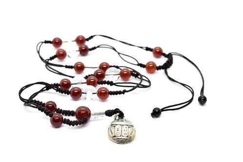 Gemstone Rosary Necklace, Handmade